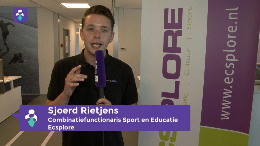 foto Sjoerd Rietjens. Combinatiefunctionaris sport en educatie bij ecsplore