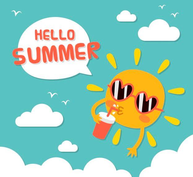 afbeelding van de zomervakantie